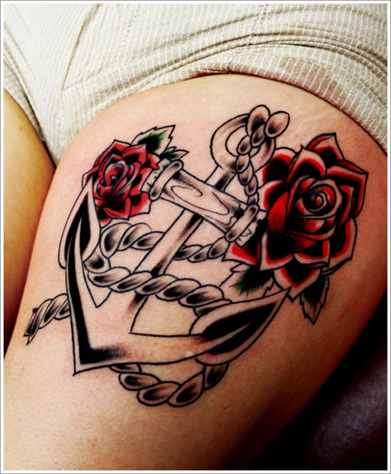 Anchor Colourful Tattoo photo - 2