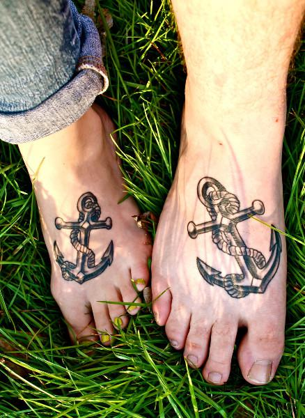 Anchor Couple Tattoo photo - 2