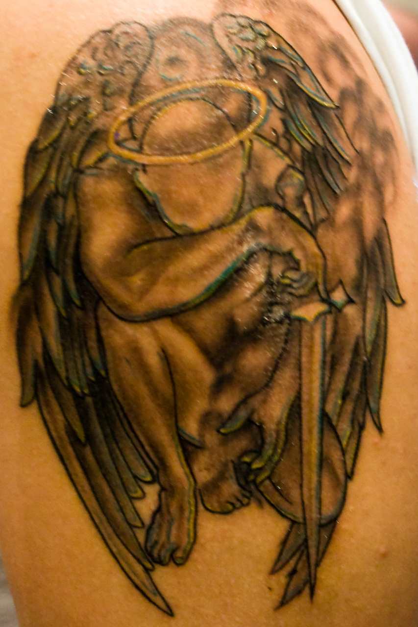 Angel Girl Sitting Tattoo photo - 2