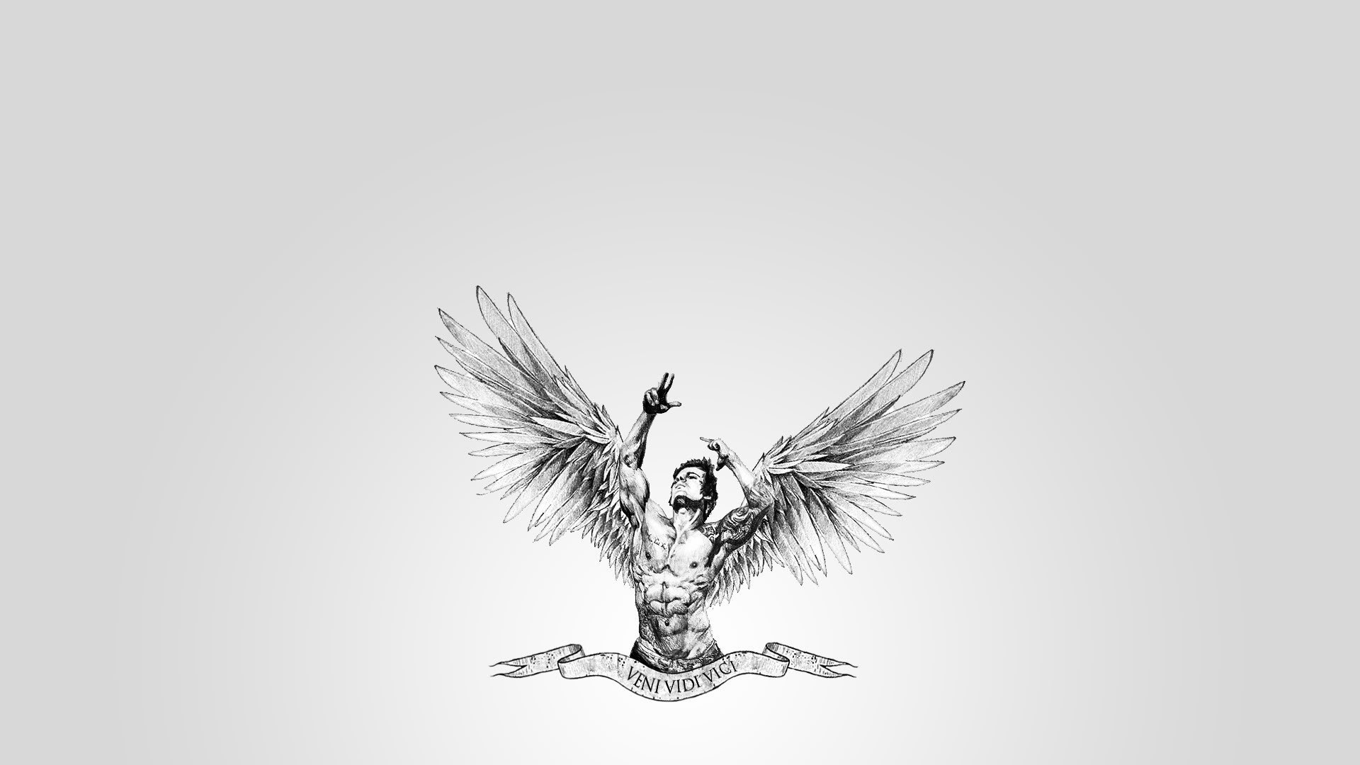 Angel Tattoo Design On Muscles photo - 1