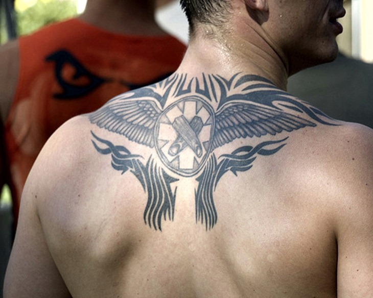 Angel Tattoo Design On Upper Back photo - 3