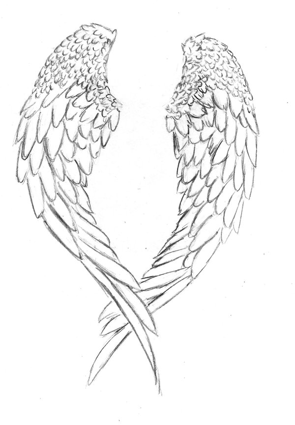 Angel Tattoo With Angle Wings photo - 2