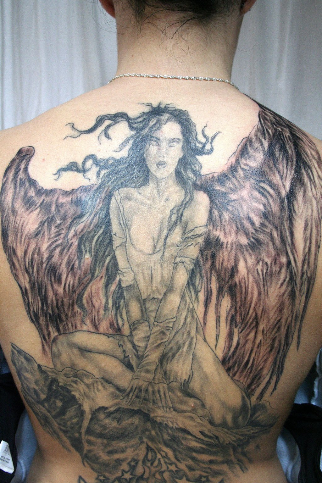 Angel Wings Big Tattoo On Back photo - 2