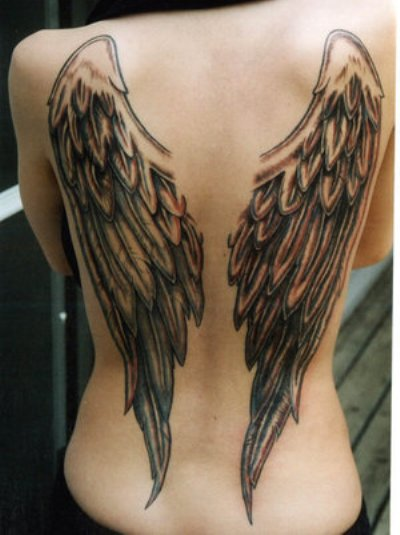 Angel Wings Big Tattoo On Back photo - 3