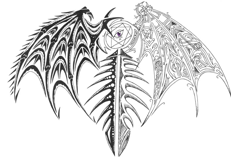 Angel Wings Tattoo Design Picture photo - 3
