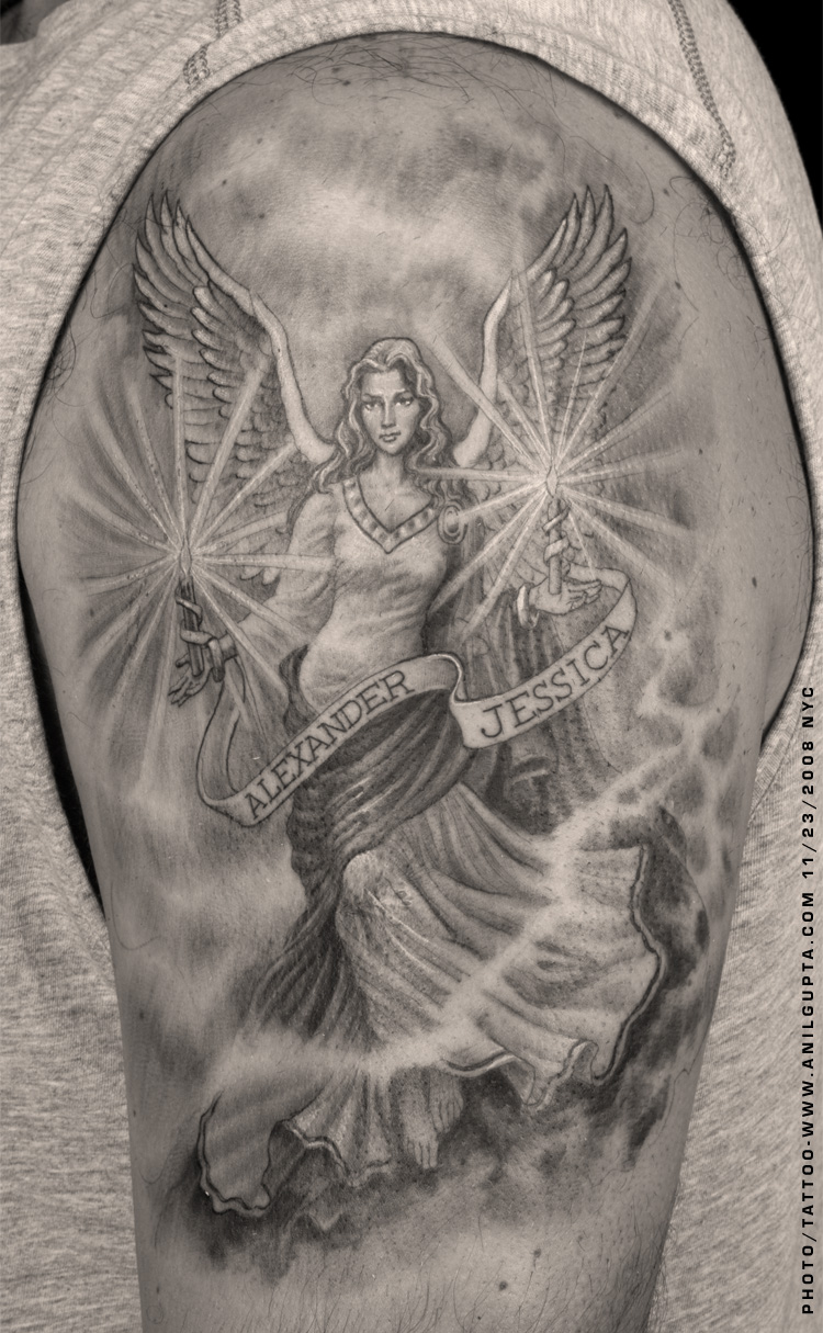 Angel Wings Tattoo On Shoulder photo - 2