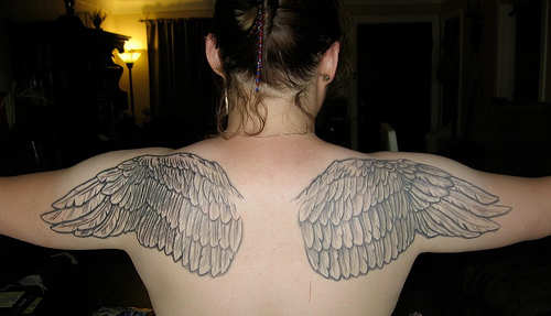 Angel Wings Tattoo On Shoulder photo - 3