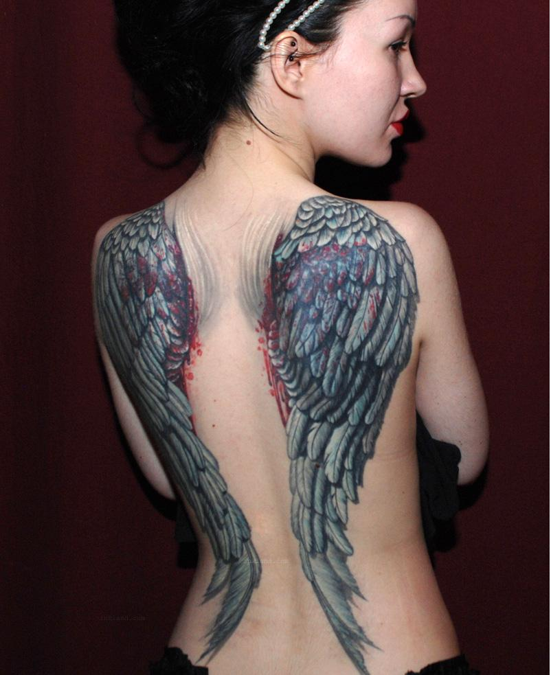Angel Wings Tattoo On Shoulder Back photo - 2