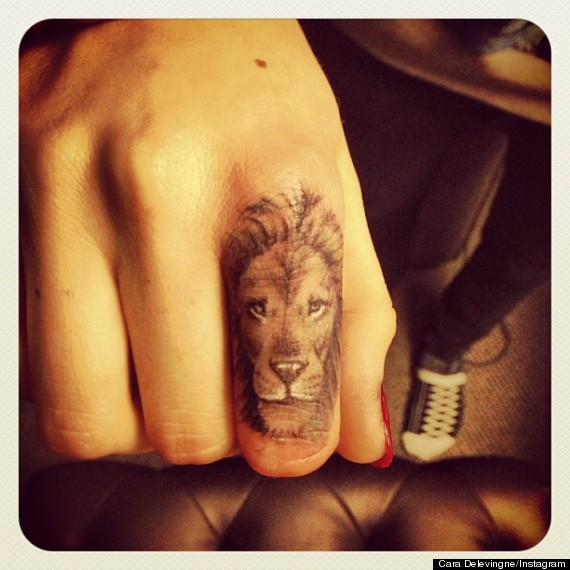 Angry Lion Face Tattoo On Chest photo - 2