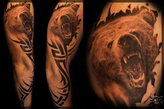 Angry Tribal Tattoo For Biceps photo - 1