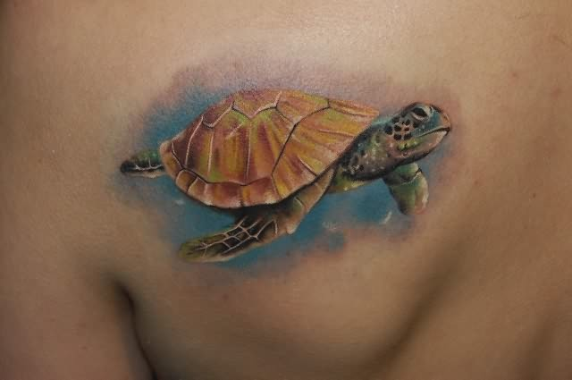 Aqua Turtle Tattoo Design photo - 1