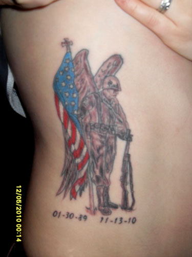 Army Angel Tattoo Design photo - 2
