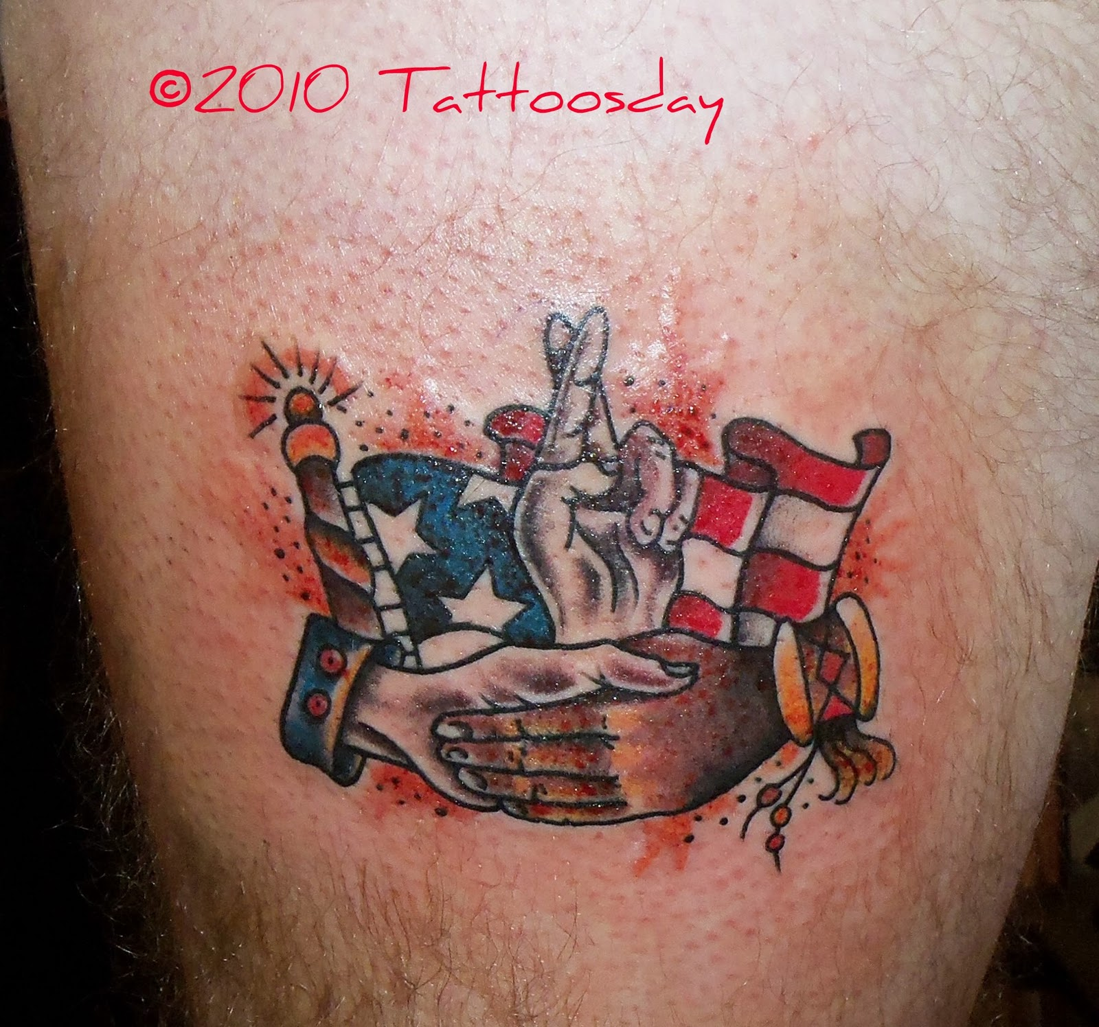 Army Tattoo For Leg photo - 1