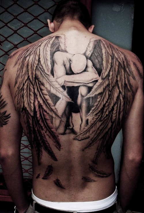 Attractive Angel Tattoo On Back photo - 1