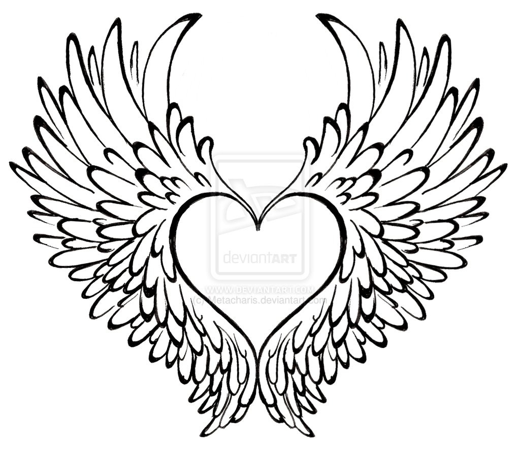 Attractive Angel Wings Tattoo photo - 2