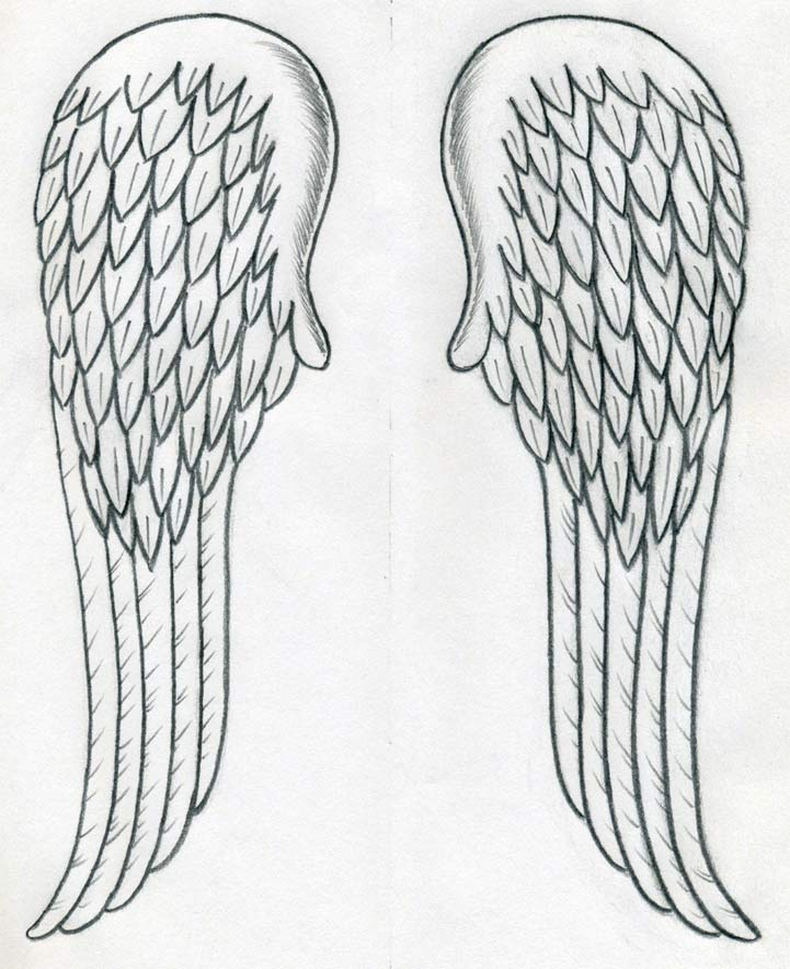 Awesome Angel Wings Tattoo Design On Back photo - 2