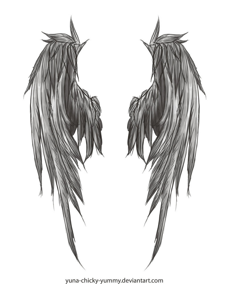 Awesome Angel Wings Tattoo Design On Back photo - 3