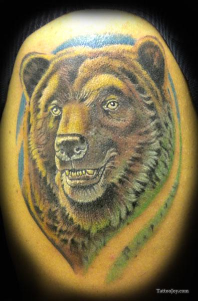 Awesome Bear Tattoo photo - 2