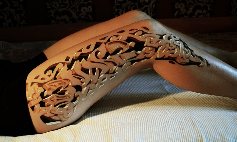 Awesome Tribal Belly Tattoo For Girls photo - 1