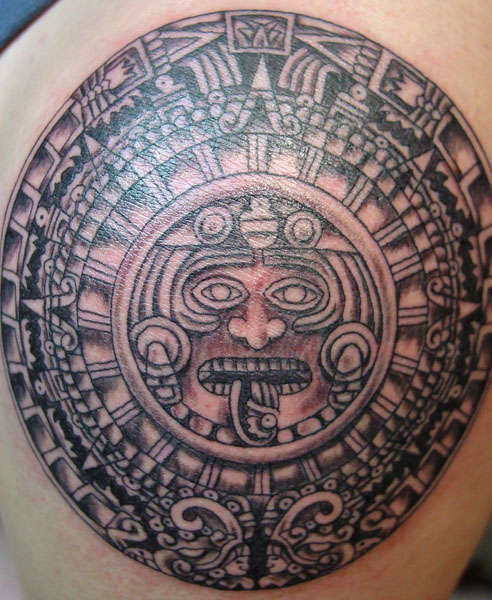 Aztec Tribal Shoulder Tattoos photo - 3