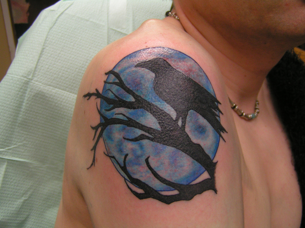 Bats From Moon And Pheonix From Sun Tattoo Designs photo - 3