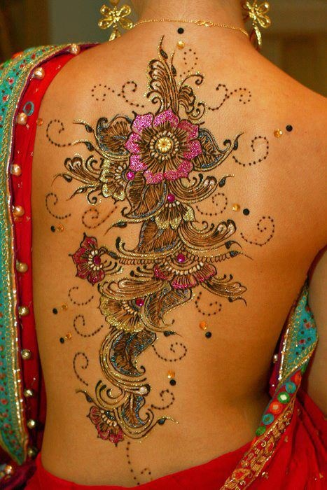 Beautiful 3D Flower Tattoos Specially For Girls photo - 3