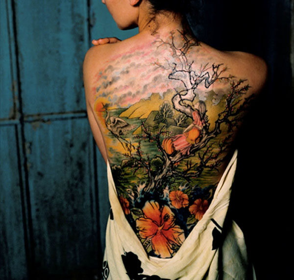 Beautiful Color 3D Scene Tattoo photo - 3