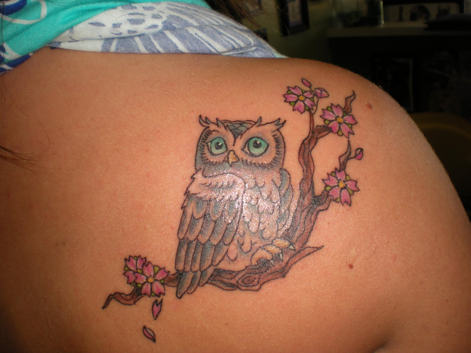 Beautiful Owl Tattoo On Shoulder photo - 3