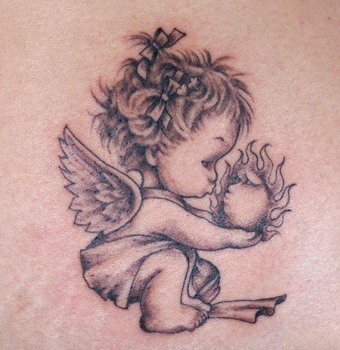 Best Memory Angel Tattoo On Back photo - 3
