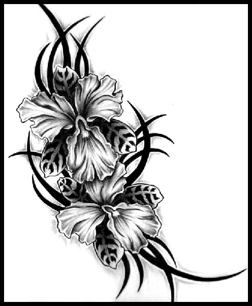 Best Tribal Flower Tattoo Designs photo - 2