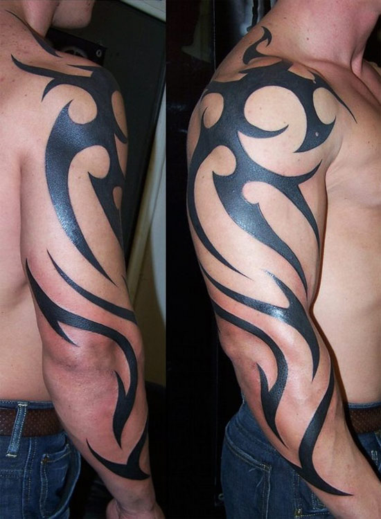 Best Tribal Tattoo On Back For Women photo - 1