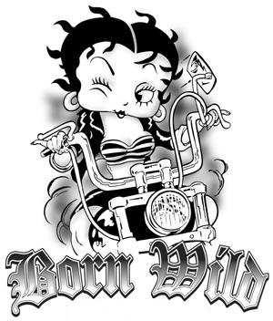 Betty Boop Bike Tattoo photo - 1