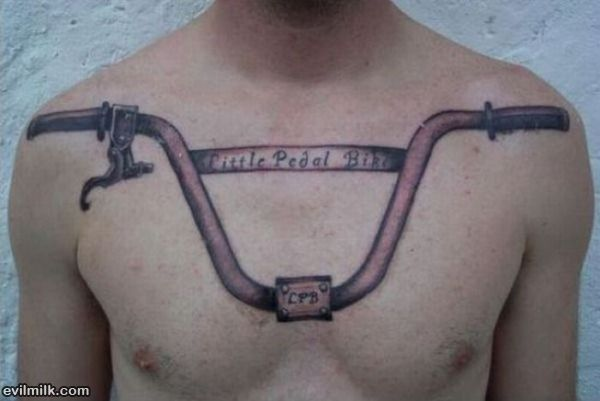 Bicycle Handle Tattoo On Chest photo - 1