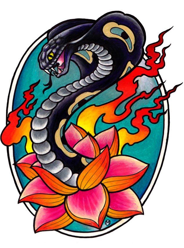 Black cobra tattoo in 2017 real photo pictures images for Black cobra tattoo
