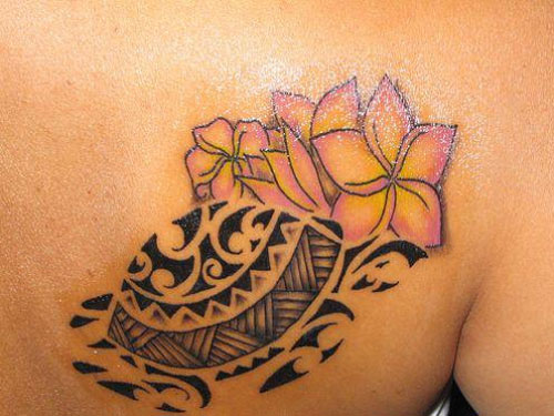 Black Ink Tribal Ankle Tattoo photo - 2
