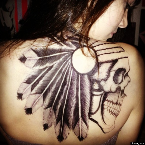 Black Ink Tribal Eagle Tattoo Design photo - 3