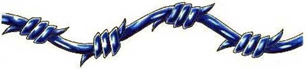 Blue Barbed Wire Armband Tattoo photo - 1