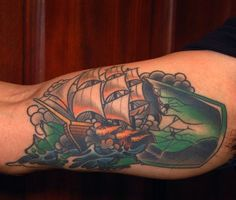 Bottle With Ship Tattoo Sample photo - 1
