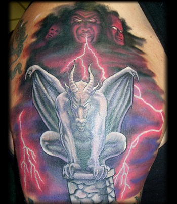 Brilliant Gargoyle Tattoo Design photo - 1