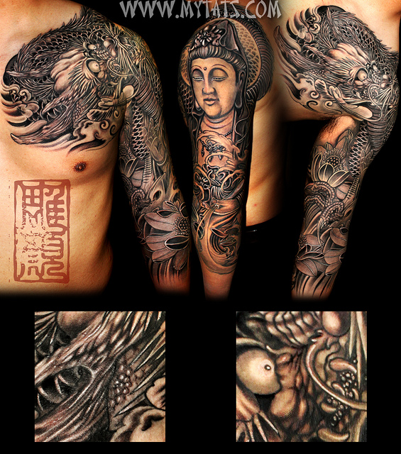 Buddha Sleeve Tattoo photo - 1