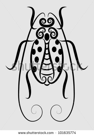 Bug Insect Tattoo Design photo - 1