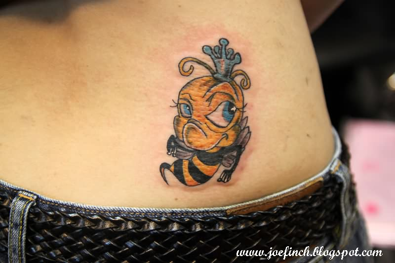 Bumble Bee Tattoo On Lower Back photo - 1