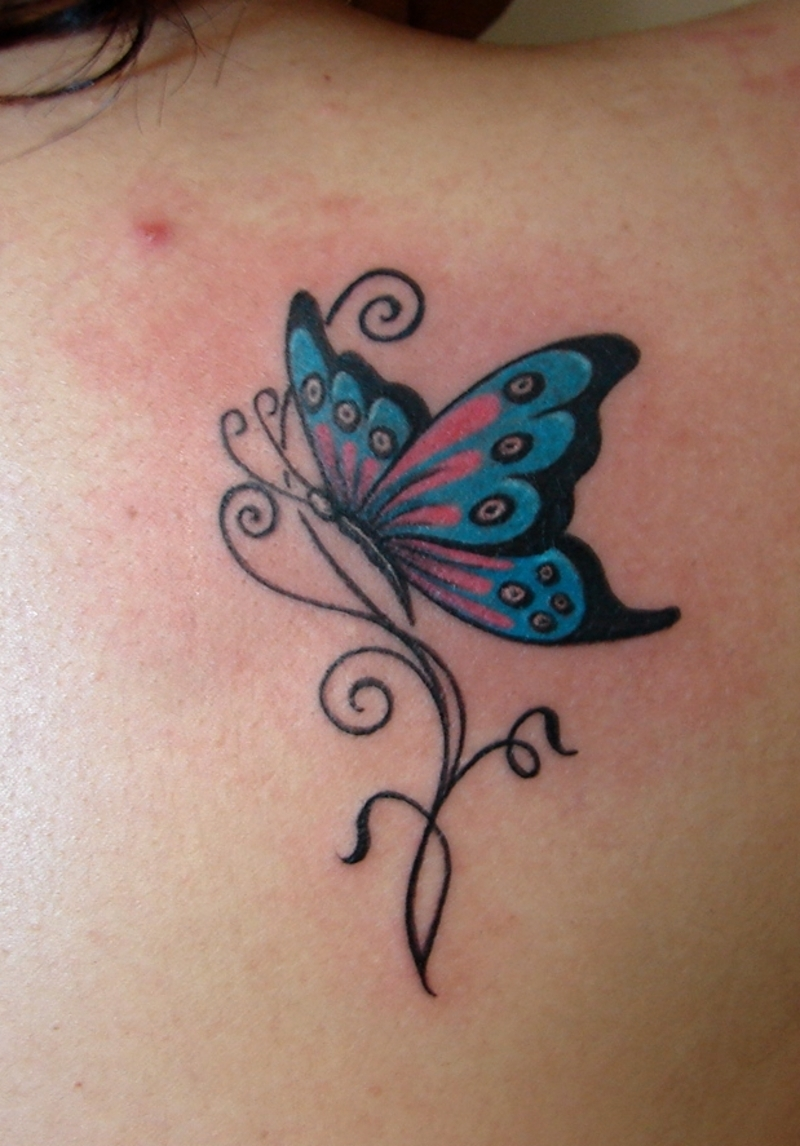 Butterfly Tribal Tattoo Design photo - 2