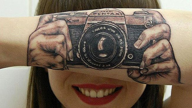 Camera Tattoo For Arm photo - 1