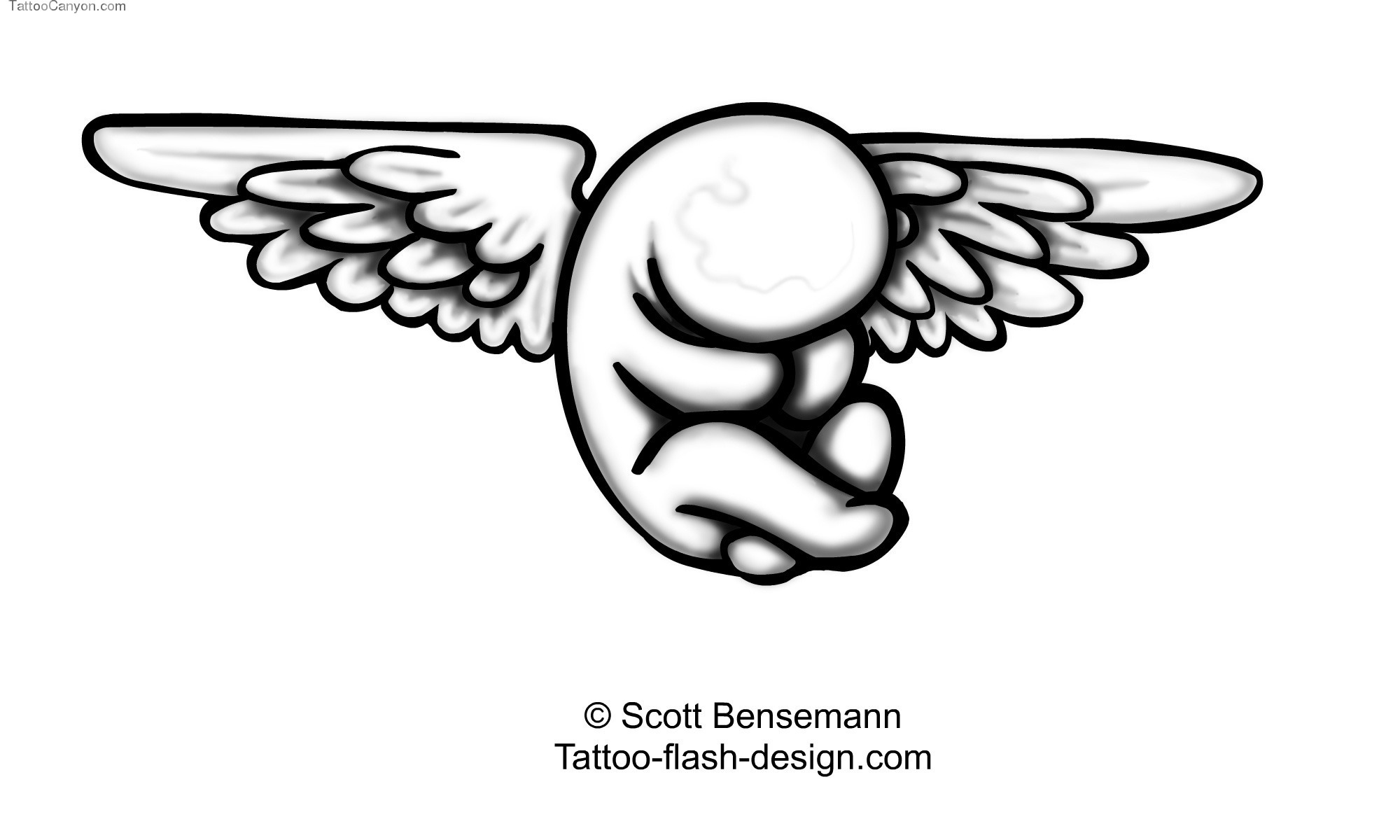 Charming Angel Wings Tattoo Design photo - 2