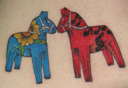 Charming Tribal Horse Head Tattoo photo - 3