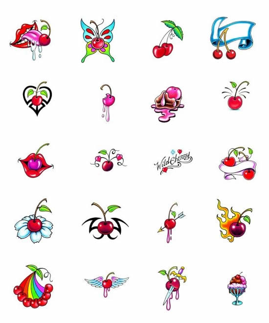 Cherry Tattoo Designs photo - 1