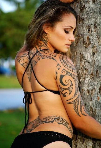 Circle Tribal Tattoo Model photo - 1