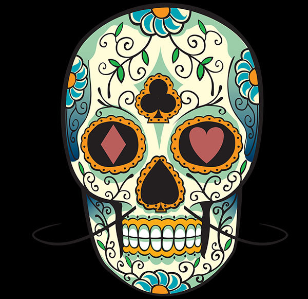 Colorful Mexican Skulls Tattoo Designs photo - 1