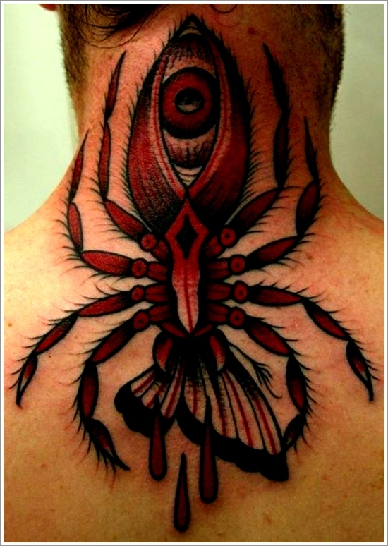 Colorful Spider 3D Tattoo For Men photo - 3